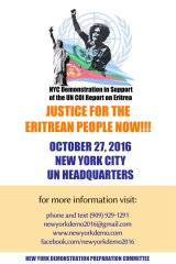NYC Demonstration in Support of the UN COI report on Eritrea