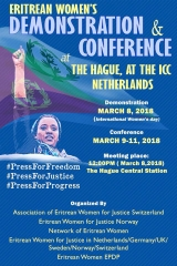 Eritrean Women's Demonstration and Conference at the Hague