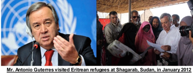 EPDP Salutes Former UNHCR Chief as UN SG; Calls   on Him to Address Root Cause of Eritrean Mass Exodus