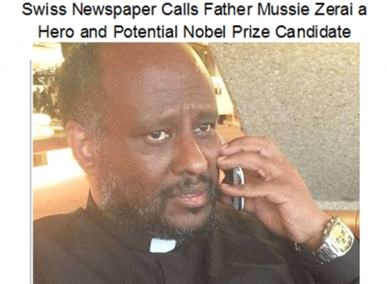 Swiss Newspaper Calls Father Mussie Zerai a Hero and Potential Nobel Prize Candidate